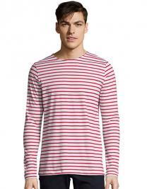 Men`s Long Sleeve Striped T-Shirt Marine